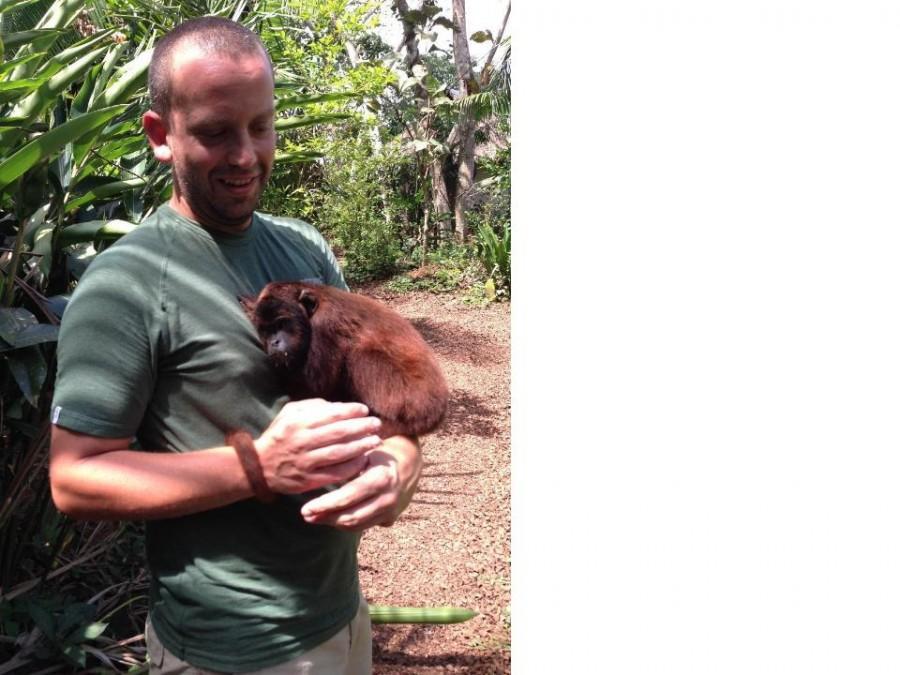 Mr. Granieri with a monkey