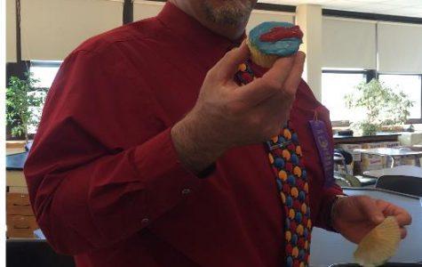 Mr. Portuese Enjoys Cupcake