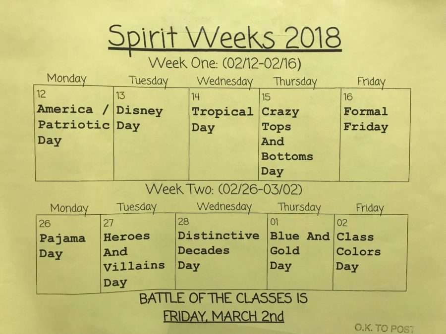 Spirit Week Begins Monday