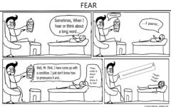 The Eagle's Cry Cartoon: Fear