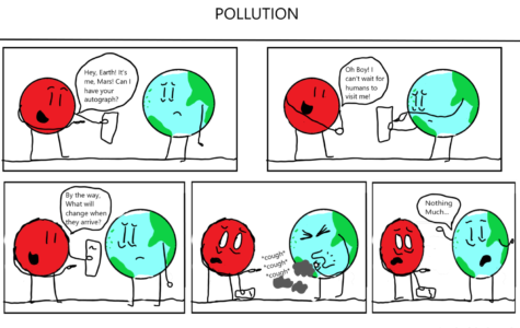 The Eagle's Cry Cartoon: Pollution