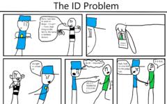 The Eagle's Cry Cartoon: The ID Problem